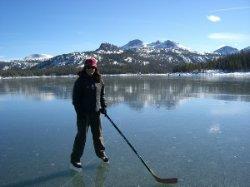 Caples Lake Ice Skating