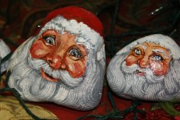 Tahoe Art League Holiday Santas by Julie Zeid