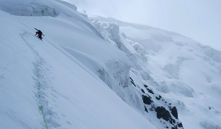 Splitboarding in China by Campbell
