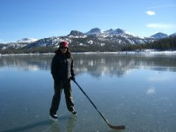 Caples Lake Ice Skating