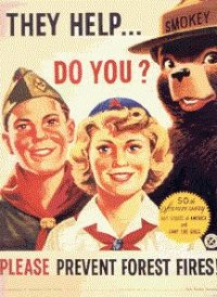 Smokey_with_scouts 1951