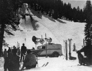 1928 Double Tobaggan Slide at Granlibakken C.W. Vernon