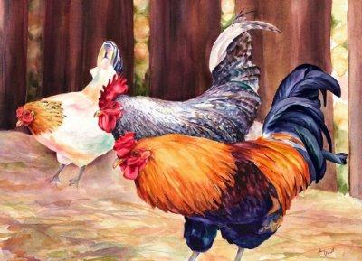 Nancy Abicht Regal Roosters