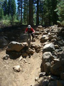mountain biking in rock garden