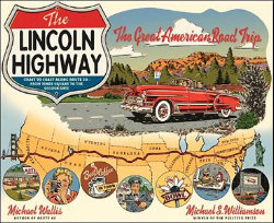 lincoln highway map drawing