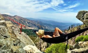 hammocking in the mountains