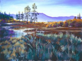 painting of tahoe landscape