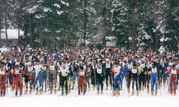 great ski race starting line
