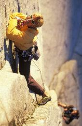 Todd O rock climbing