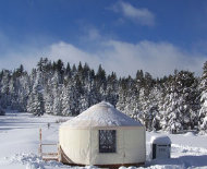 yurt in hope valley