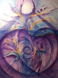 abstract painting of heart
