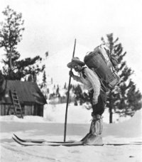 snowshoe thompson with skis